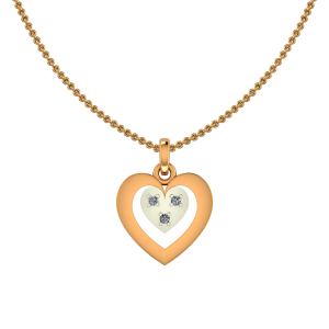 Heart In Heart Diamond Kids Pendant