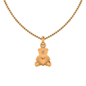 Heart N Teddy Diamond Kids Pendant
