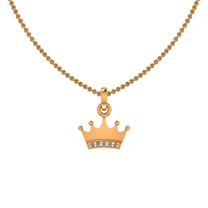 Princess Crown Diamond Kids Pendant