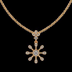 Funky Wheel Diamond Pendant