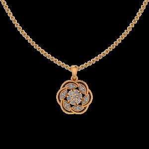 Floral Find Diamond Pendant