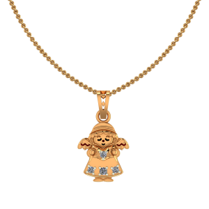 Cute Angle Diamond Kids Pendant