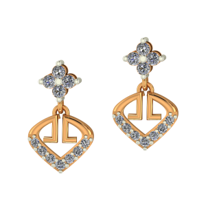 Golden Poise Diamond Earrings