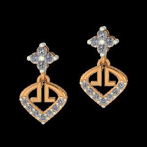 Golden Poise Diamond Earrings