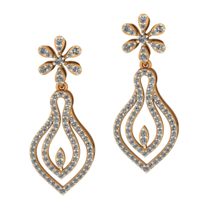 Golden Vicious Diamond Earrings