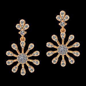 Funky Flower Diamond Earrings