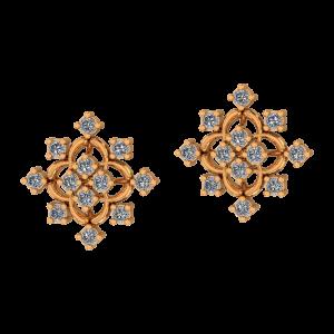 Glitter Angles Diamond Earrings