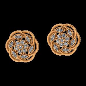 Classic Swirl Diamond Earrings
