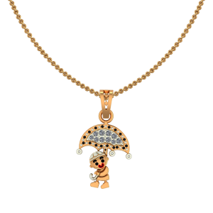 Cute Boy Diamond Kids Pendant