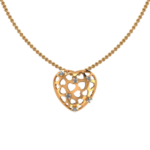 The Hearts Allure Diamond Pendant