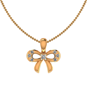 The Golden Knot Diamond Pendant