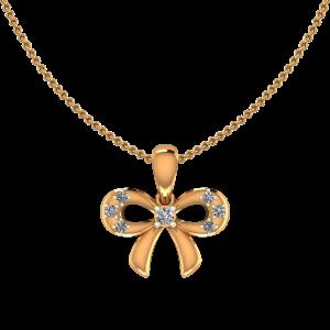 The Golden Knot Diamond Pendant