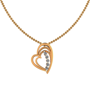 The Heart Glee Diamond Pendant