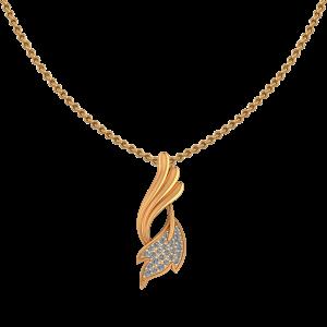The Leaf Lace Diamond Pendant