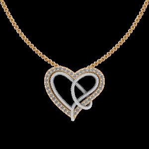 Swoosh Heart Diamond Pendant