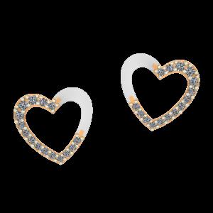Dazzling Hearts Diamond Earrings