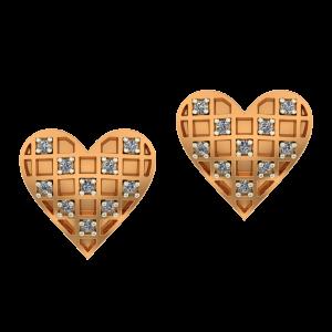 The Heart`s Play Diamond Earrings