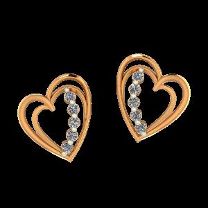 Weave The Heart Diamond Earrings