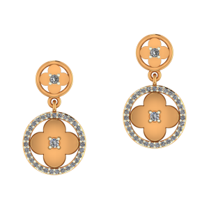 Floral Spring Diamond Earrings