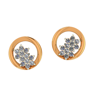 Star O Star Diamond Earrings