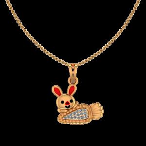 Cute Bunny Diamond Kids Pendant