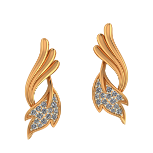 Golden Pinions Diamond Earrings