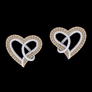 Dancing Hearts  Diamond Earrings
