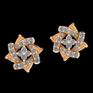 Floral Wheeling Diamond Earrings