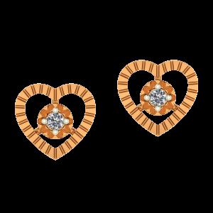Core Of The Heart Diamond Earrings