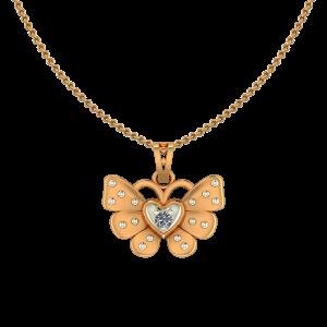 Cute Butterfly Diamond Kids Pendant