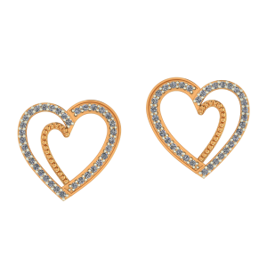 Golden Frame Diamond Earrings