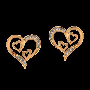 Heart Heart N Heart Diamond Earrings