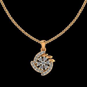 Floral Wheel Diamond Pendant