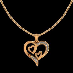 Heart Heart N Heart Diamond Pendant