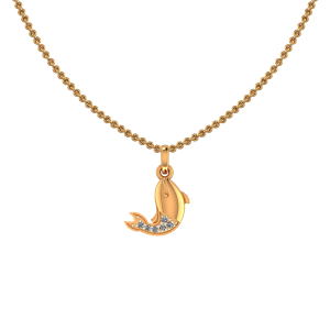 Cute Dolphin Diamond Kids Pendant