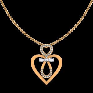 Heart Suit Diamond Pendant
