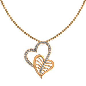 Leafy Heart Diamond Pendant