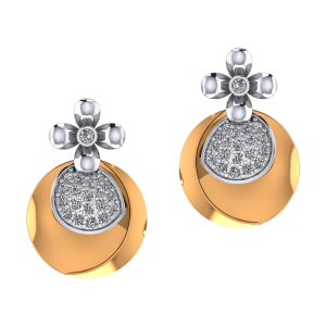 Dual Drama Diamond Earrings