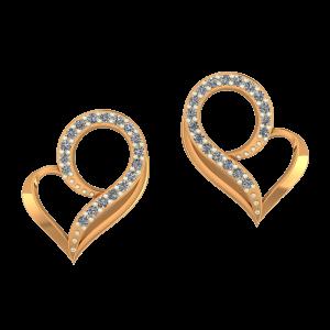 Heart`s Drama Diamond Earrings