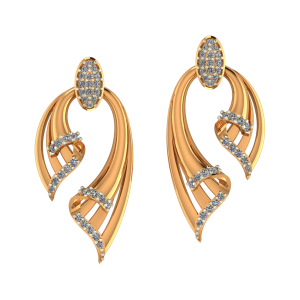 Dual Flash Diamond Earrings