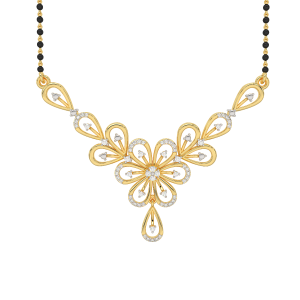 Become Beautiful Mangalsutra With Black Beads Gold Chain