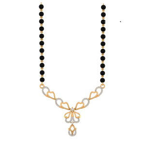 Captivating Mangalsutra With Black Beads Gold Chain