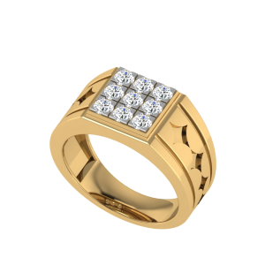 The George Men`s Nine Diamond Ring
