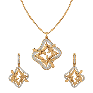 Flutterby Diamond Pendant Set