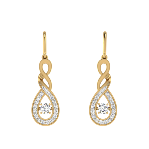 The Curl Panache Diamond Dangle Earrings