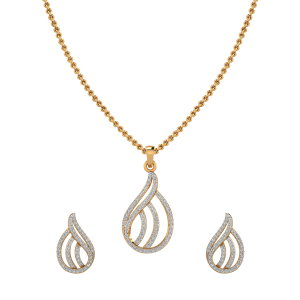 Romantic Art Diamond Pendant Set