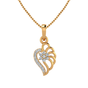 The Hearts Shadow Diamond Pendant