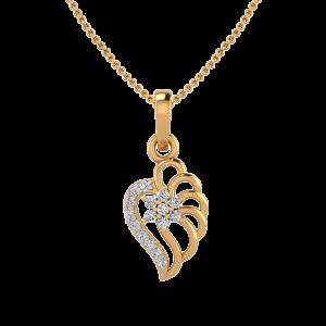 The Hearts Shadow Diamond Pendant