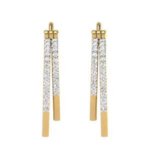 The Hoops In Trend Diamond Earrings
