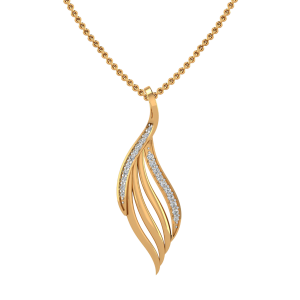 The Falling Feather Diamond Pendant